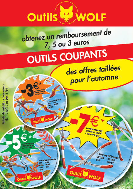 Promotion outils coupants Outils Wolf