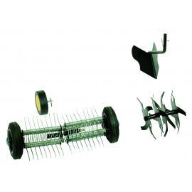 """Lot """"butteur, émousseur, sarcleur + capot et roue pour motobineuses - MIPACK"""