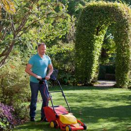 jardin outils wolf tondeuse electrique a pousser conducteur marchant 37cm qualite de coupe