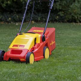 jardin outils wolf tondeuse electrique conducteur marchant 34cm mulching