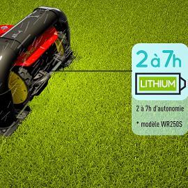 jardin tondeuse robot mulching tonte sans fil efficace batteries lithium-ion longs-cycles de travail