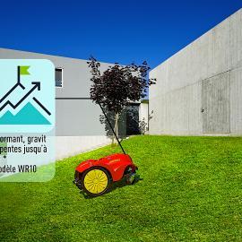 jardin tondeuse robot mulching tonte sans fil performant pente profil des roues